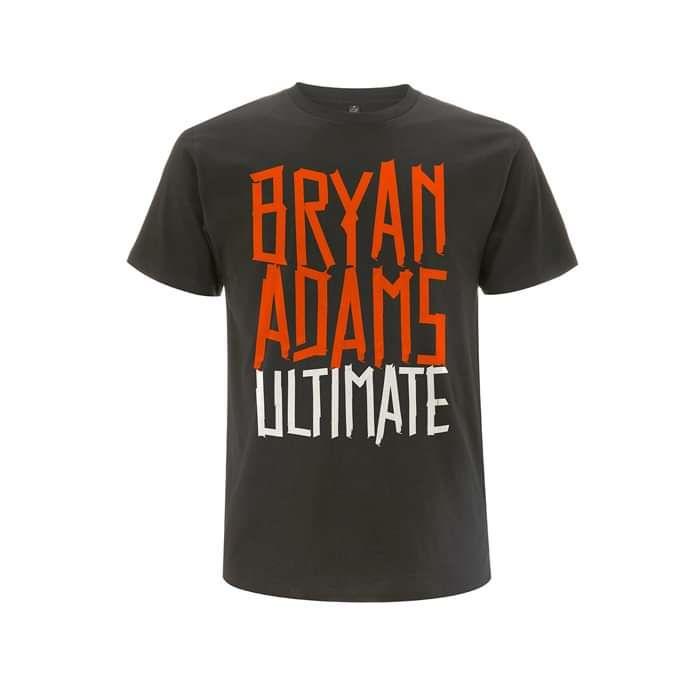 Tape Type Logo / Date Back -  Charcoal Grey Tee - Bryan Adams