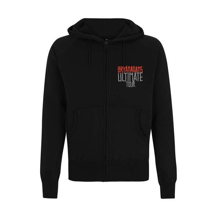 Ultimate Tape Type Logo - Black Hoodie - Bryan Adams