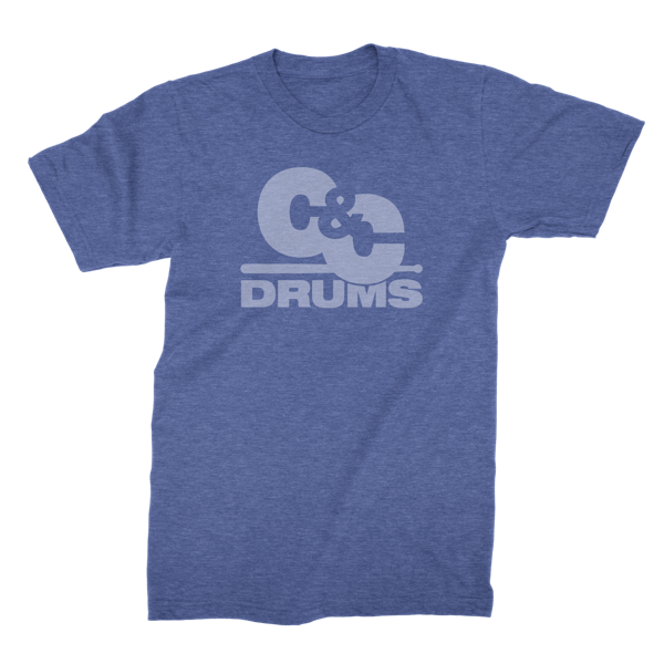 70s Tee - Heather Blue - C&C Drums