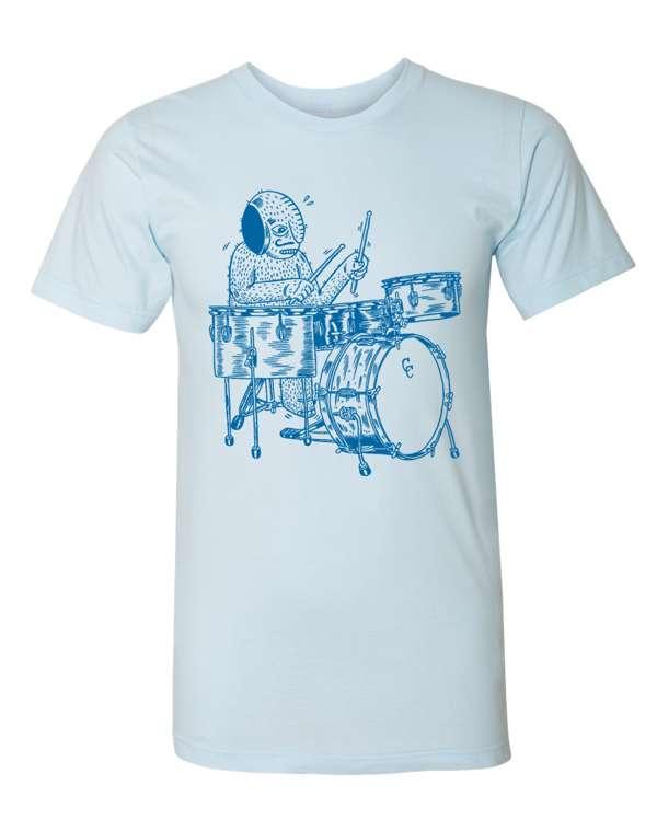 Drummer Tee - Blue - C&C Drums