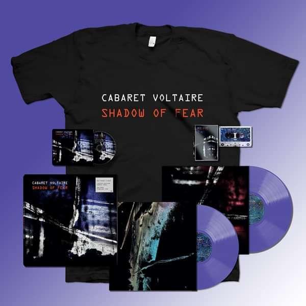 Cabaret Voltaire - Shadow of Fear 2xLP, CD, Cassette, T-Shirt Bundle - Cabaret Voltaire