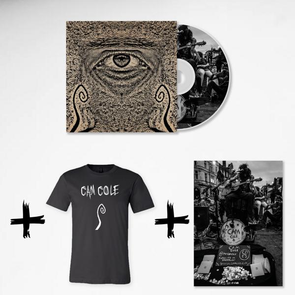I See CD + Logo T-Shirt (Unisex) + Busking Scene Poster Bundle - Cam Cole USA & Canada Store