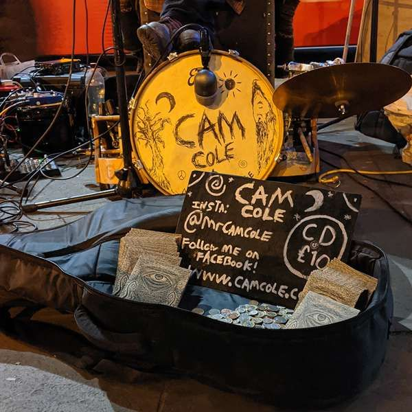 Live Busking at Camden Town Station - Download (MP3 & FLAC) - Cam Cole USA & Canada Store