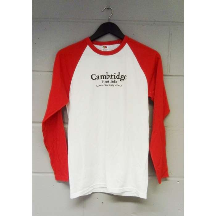 Cambridge Folk Baseball Top (Red) - Cambridge Folk Festival