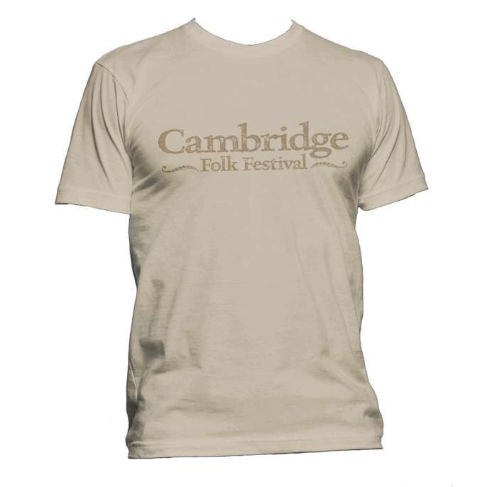 Cambridge Folk T-shirt (Tan) - Cambridge Folk Festival