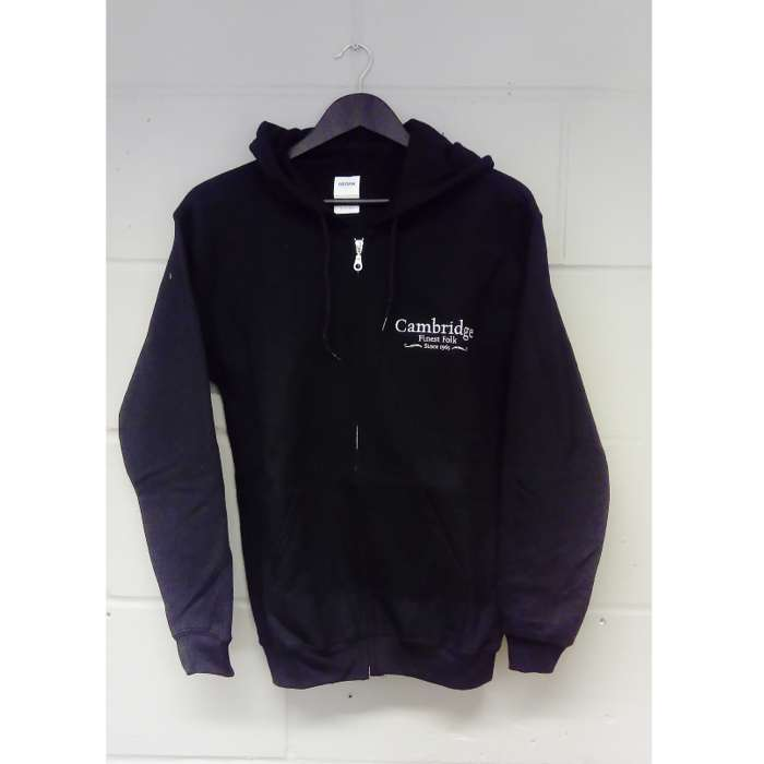 Cambridge Folk Zip Hoodie (Black) - Cambridge Folk Festival