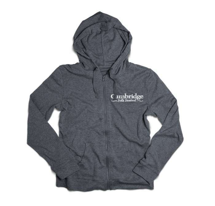 Cambridge Folk Zip Hoodie (Dark Heather) - Cambridge Folk Festival