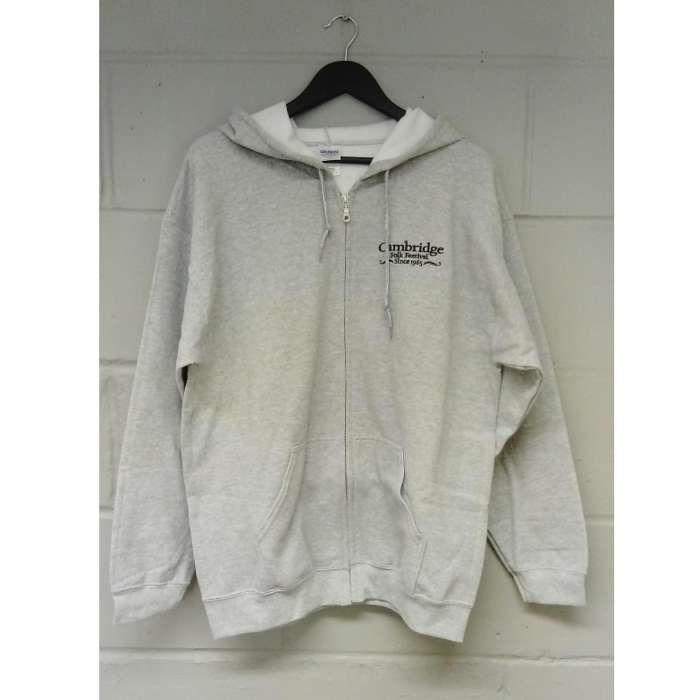 Cambridge Folk Zip Hoodie (Light Grey) - Cambridge Folk Festival