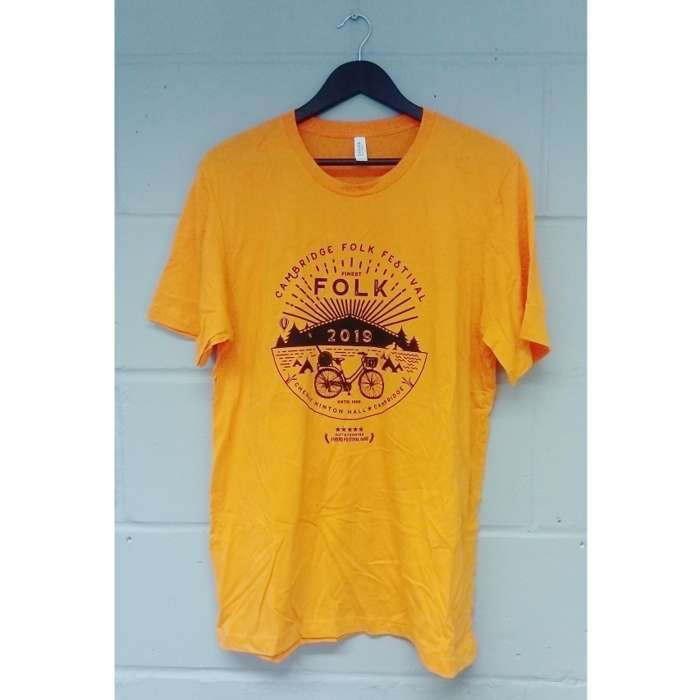 Finest Folk T-shirt (Orange) - Cambridge Folk Festival