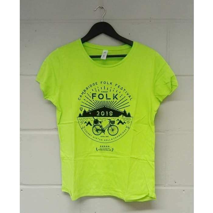 Ladies Finest Folk T-shirt (Green) - Cambridge Folk Festival