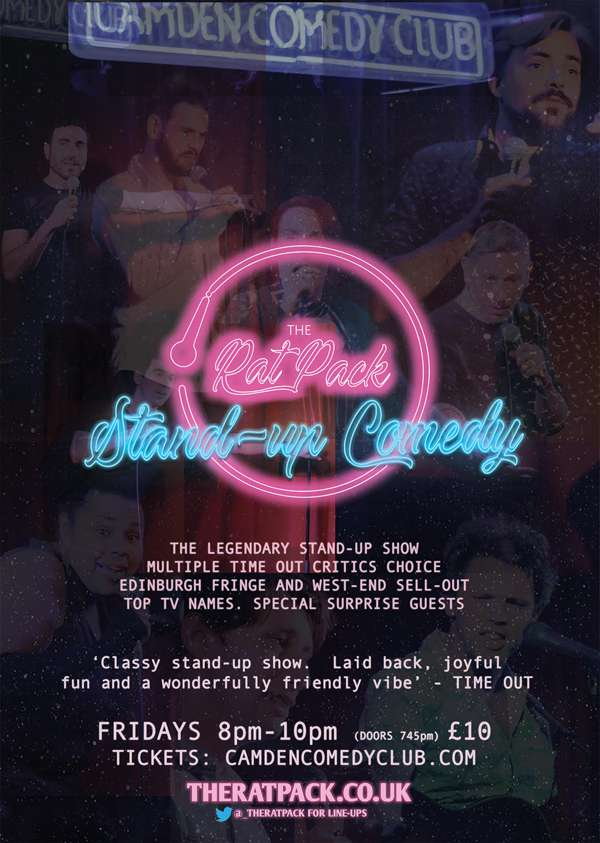 Best Stand Up Comedians 2019 THE RAT PACK STAND UP COMEDY at Camden Comedy Club, London on 12