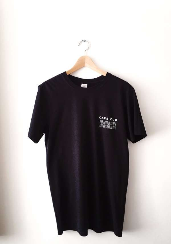 Waves Tee (Black) - Cape Cub