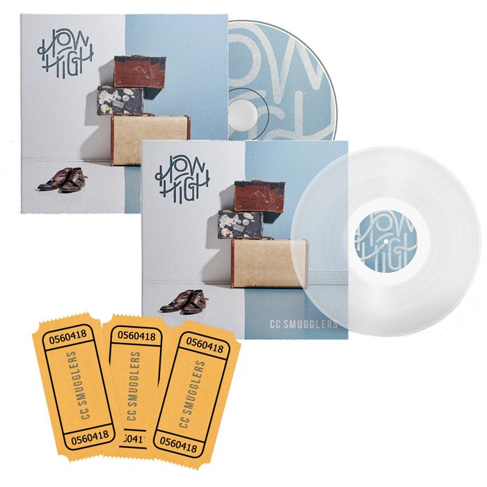 """Signed CD/Signed 12"""" Vinyl & Ticket - CC Smugglers"""