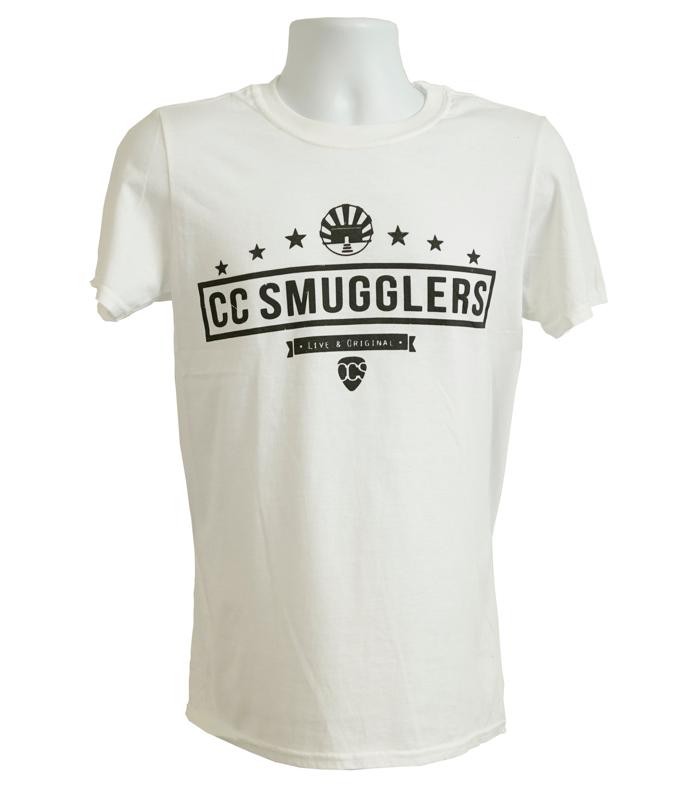 White 'Live & Original' T-Shirt - CC Smugglers