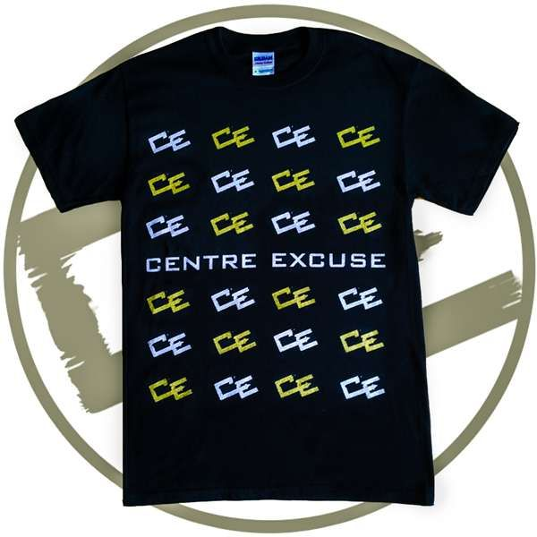 GOLD & SILVER 'MULTI-CE' T-SHIRT - Black (Regular Fit) - FREE UK Delivery - Centre Excuse