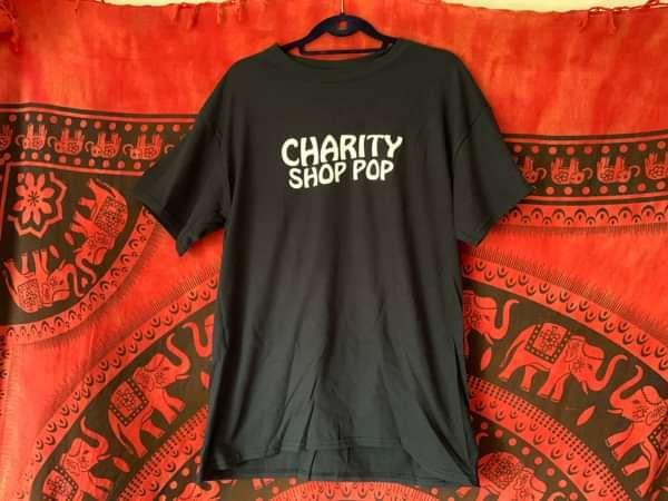 Black Logo T-Shirt - charityshoppop