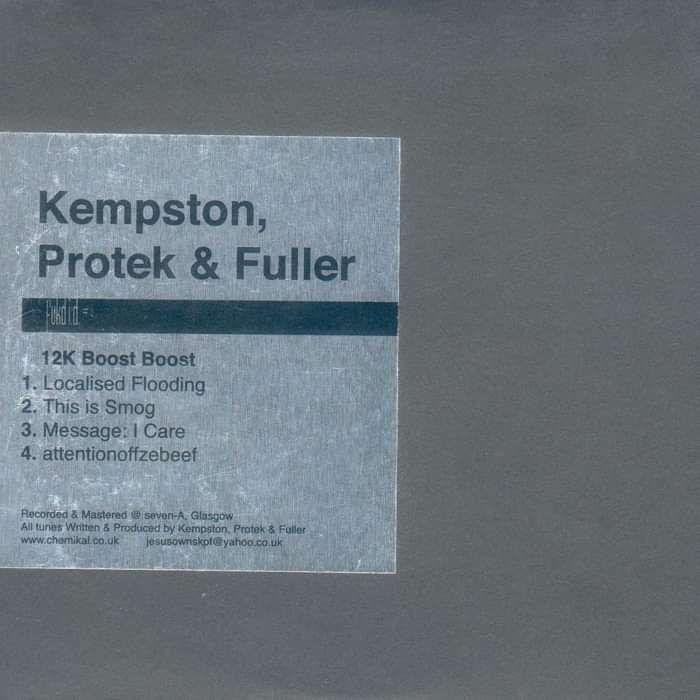 """Fukd ID #8 - Kempston, Protek & Fuller """"12K Boost Boost"""" - 12"""" Vinyl (2003) - Fukd ID Series"""