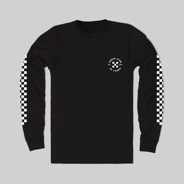 Long Sleeve Black Tee - Chess Club Records