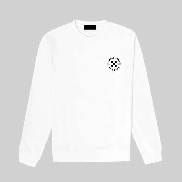 Long Sleeve White Tee - Chess Club Records