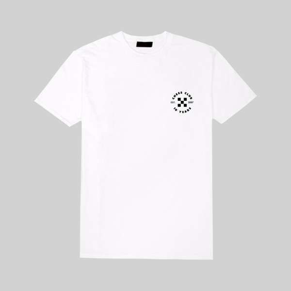 Short Sleeve White Tee - Chess Club Records
