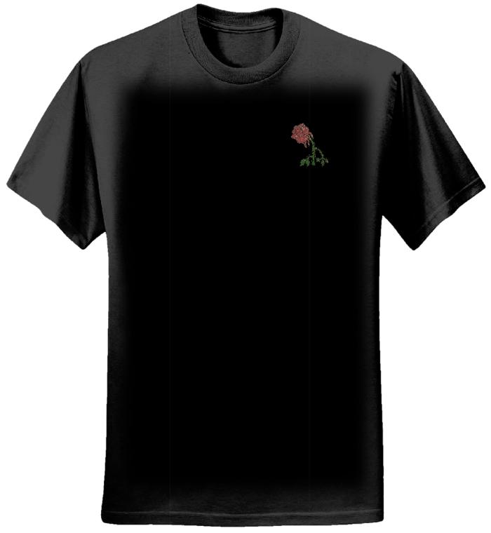 Men's Dying Rose Design T-Shirt - Chris Dela Cruz