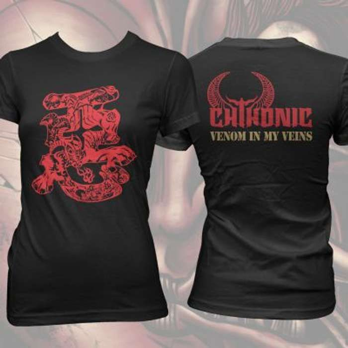 CHTHONIC - Demon Bull Girls Fitted T-shirt - CHTHONIC