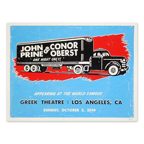 Conor Oberst with John Prine Poster - Conor Oberst