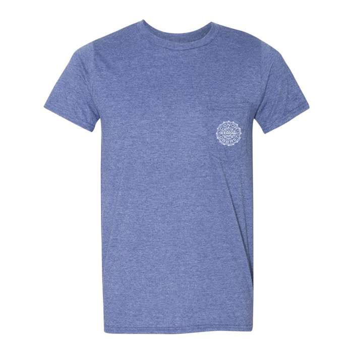 Floral Stamp Tee - Heather Blue Tee - Conor Oberst