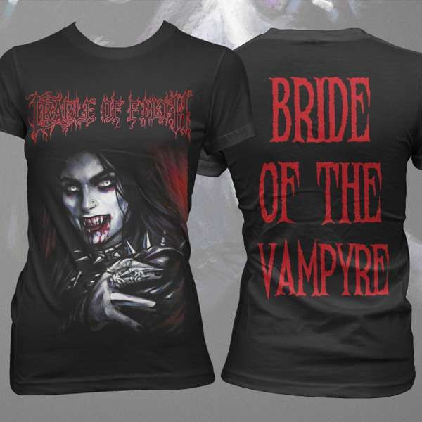Cradle of Filth - 'Bride of the Vampyre' Girls T-Shirt - Cradle of Filth