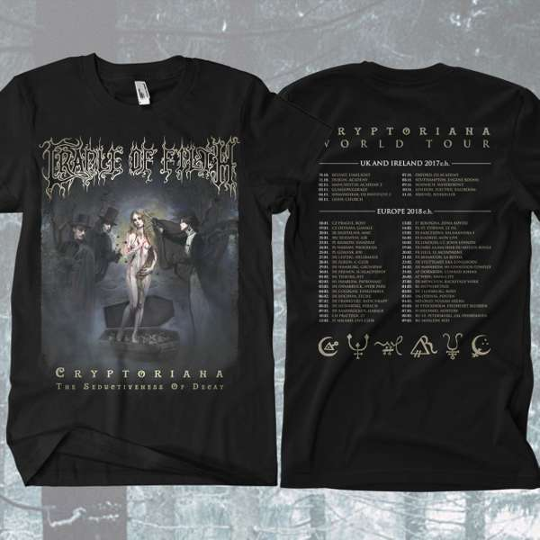 Cradle of Filth - 'Cryptoriana Tour' T-Shirt - Cradle of Filth