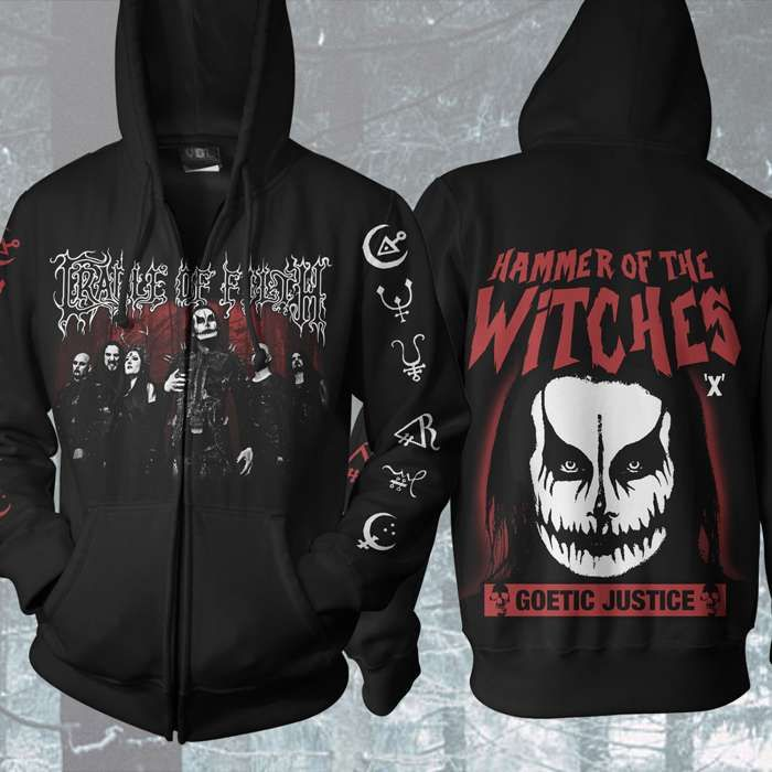 Cradle of Filth - 'Hammer of the Witches' Zip Hoody - Cradle of Filth