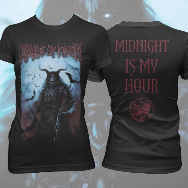 Cradle of Filth - 'Midnight' Girls T-Shirt - Cradle of Filth