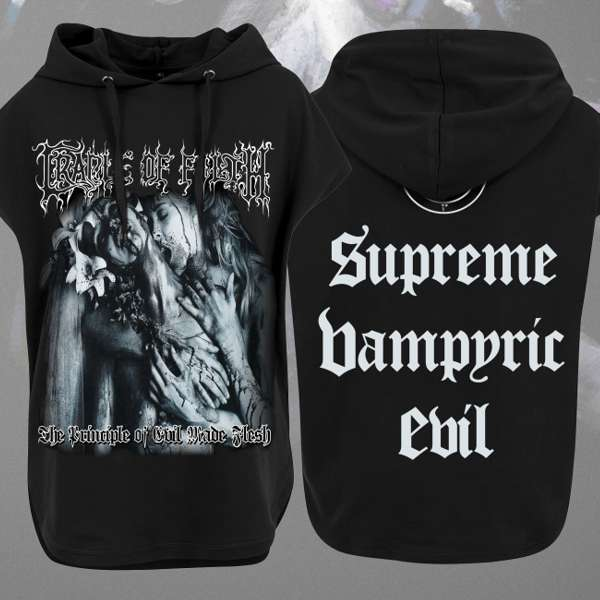 Cradle of Filth - 'Principles of Evil' Girls Sleeveless Pullover Hoody - Cradle of Filth