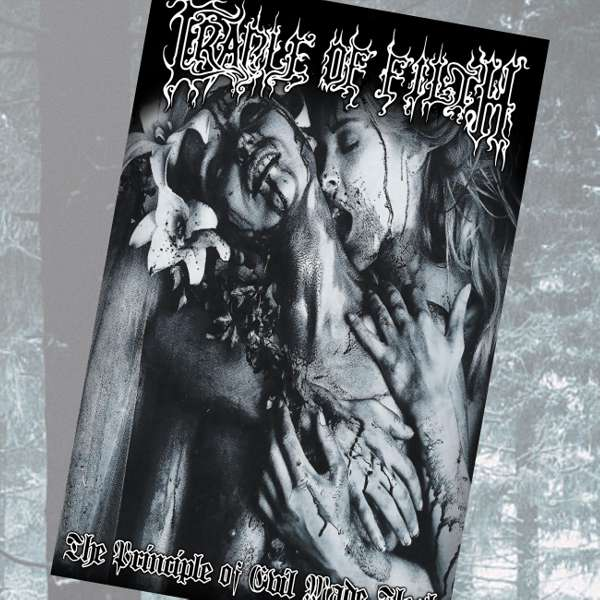 Cradle of Filth - 'The Principle of Evil' Textile Poster - Cradle of Filth