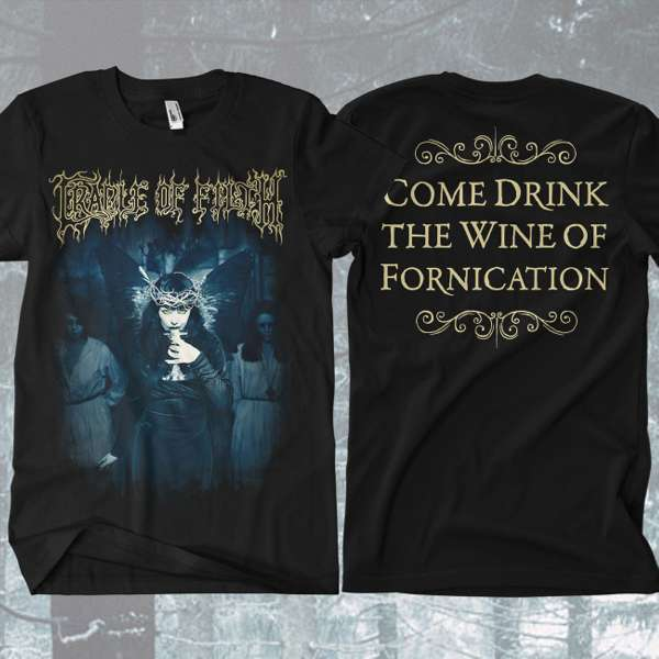 Cradle of Filth - 'Wine of Fornication' T-Shirt - Cradle of Filth
