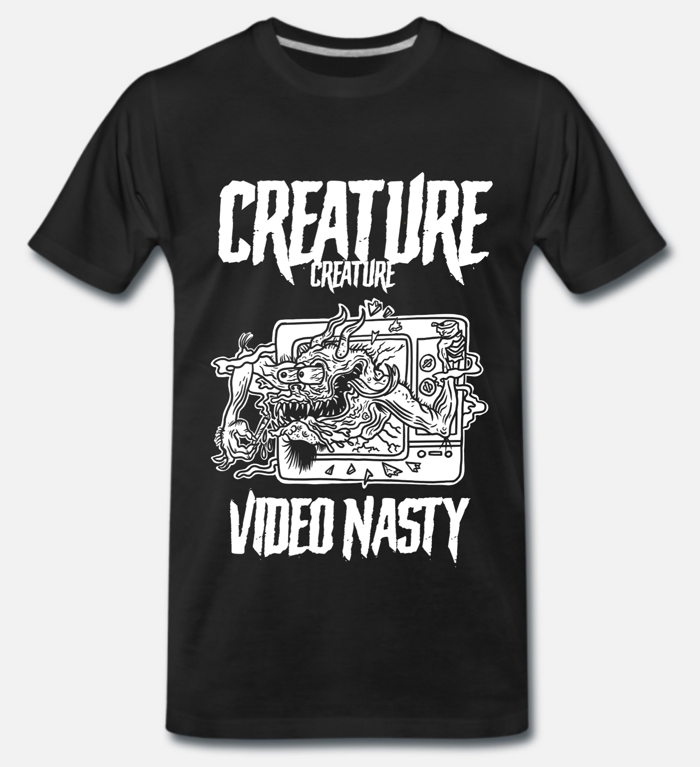 Unisex 'Video Nasty' T Shirt (LARGE) - CREATURE CREATURE
