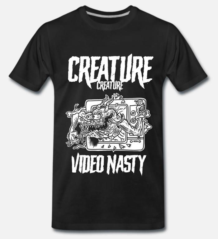 Unisex 'Video Nasty' T Shirt (MEDIUM) - CREATURE CREATURE