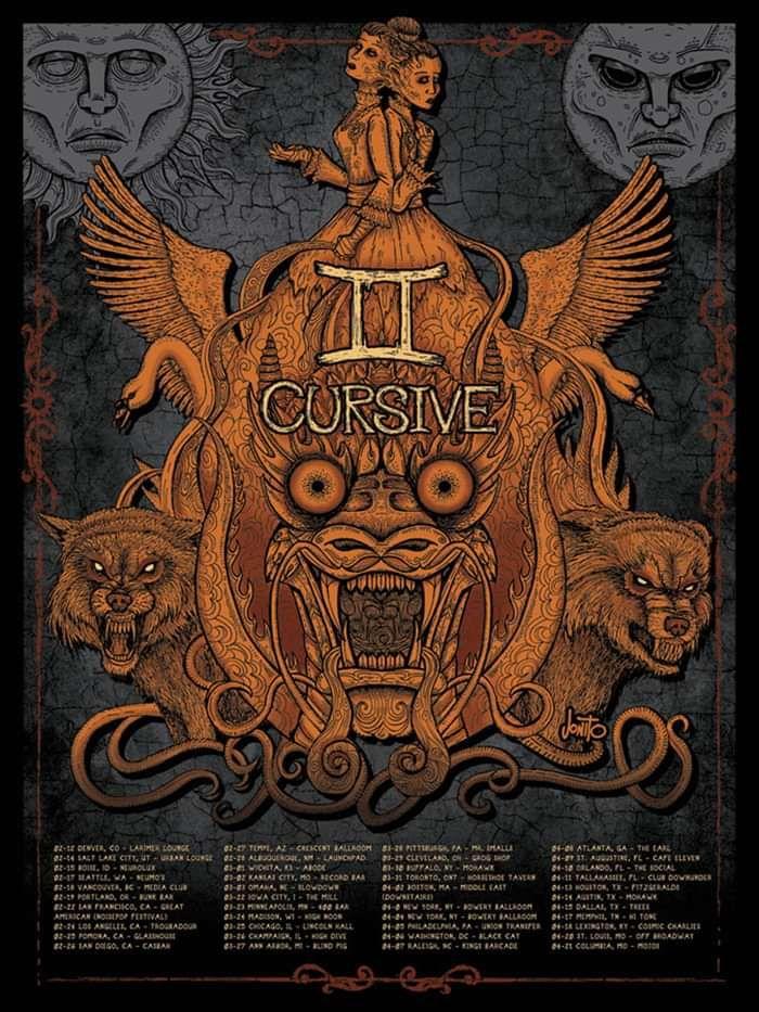 2012 Gemini Tour Screen Printed Poster - Cursive