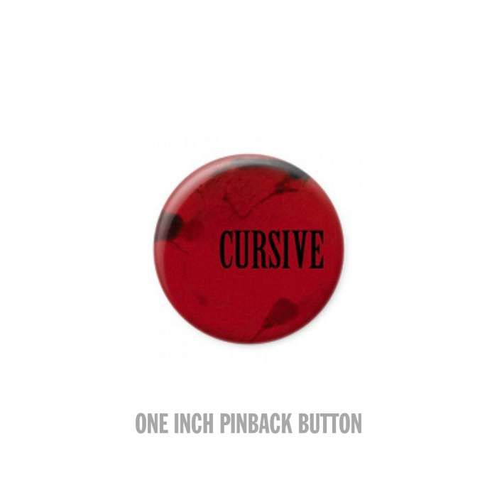 Blood - Button - Cursive