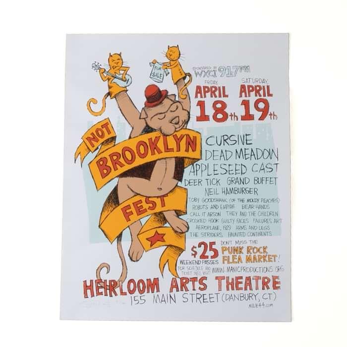 Cursive Poster - Not Brooklyn Fest 4/18-4/19 - Cursive
