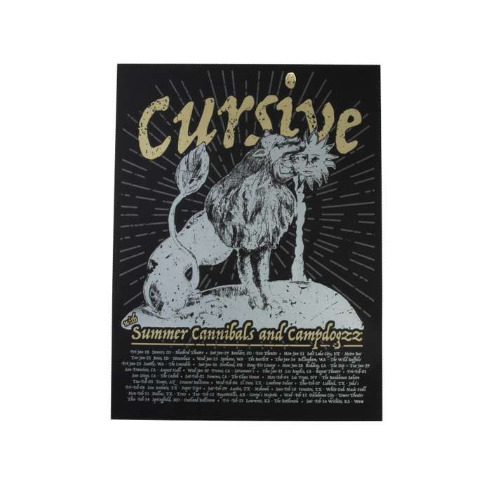 Cursive Summer Cannibals and Campdogzz Poster - Cursive