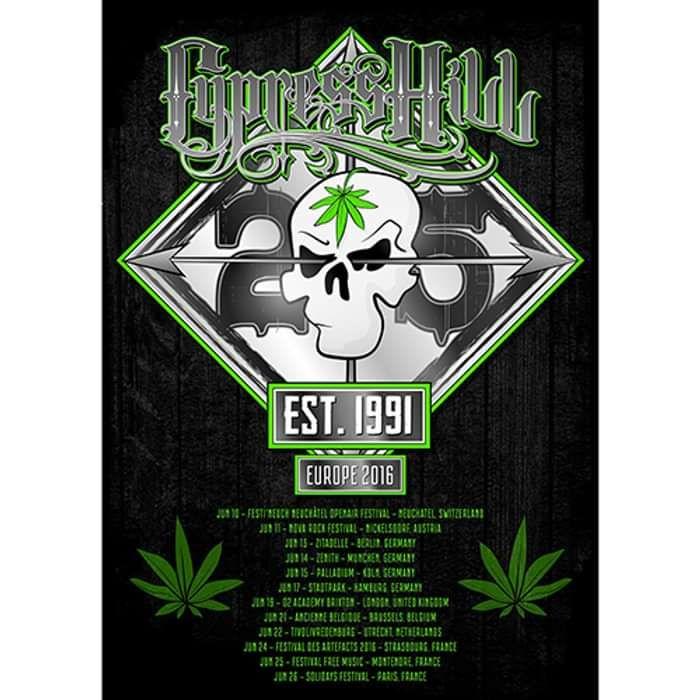 25th Anniversary Tour – A2 Print (250g art board) - Cypress Hill