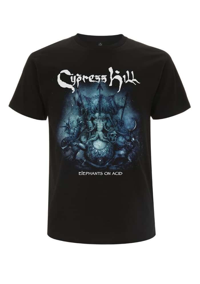 Elephants on Acid Tour -  Black Tee - Cypress Hill