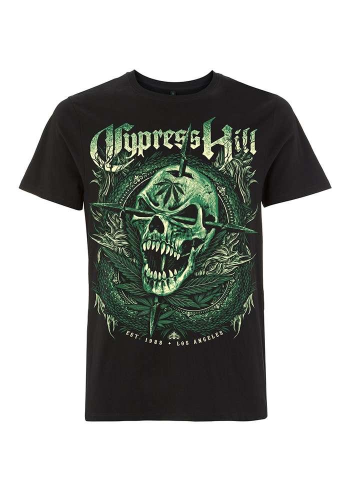 Fangs Skull - Black Tee - Cypress Hill