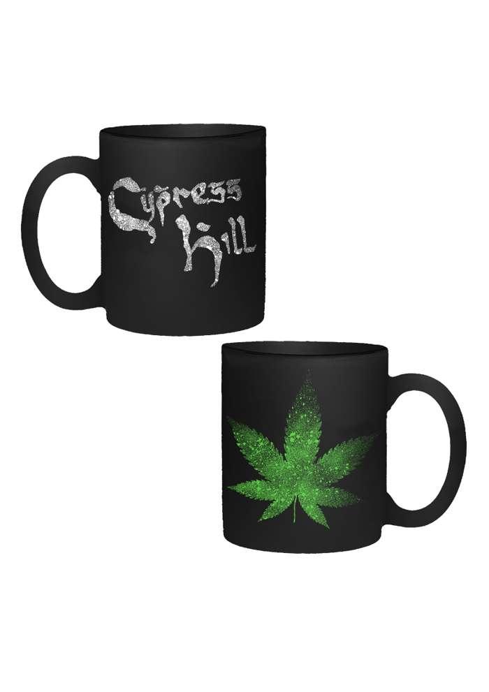Logo & Leaf - Black Matt Mug - Cypress Hill