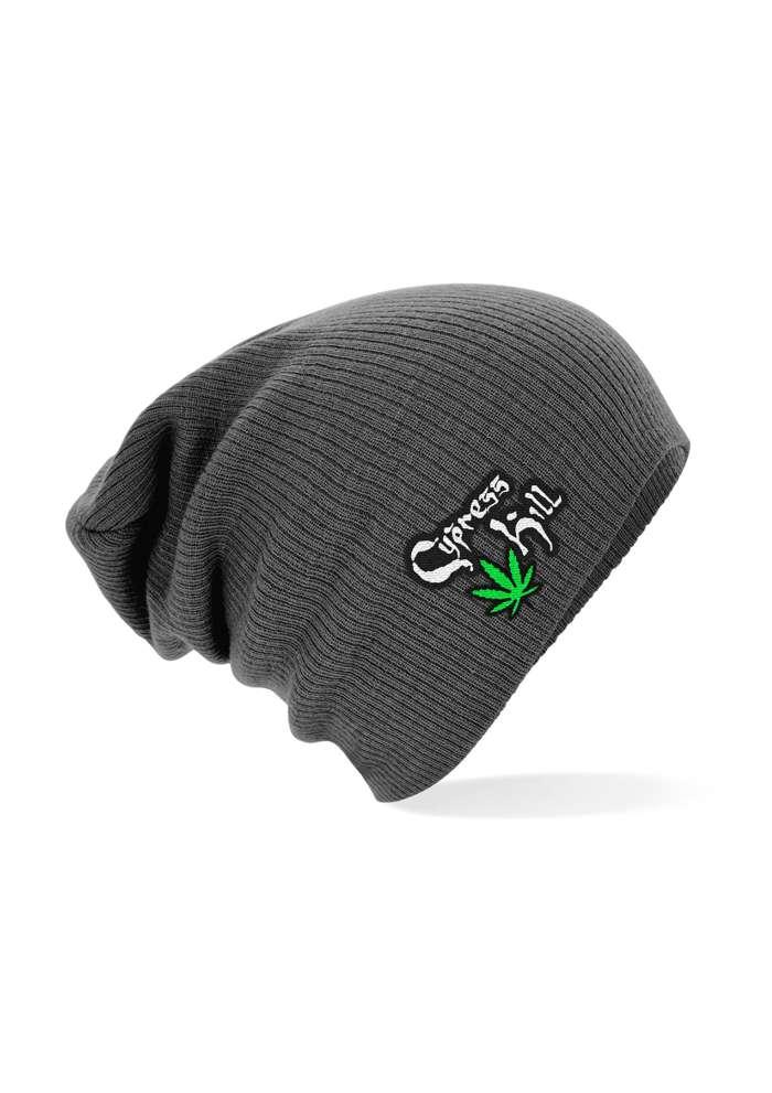 Logo & Leaf - Charcoal Slouch Beanie - Cypress Hill