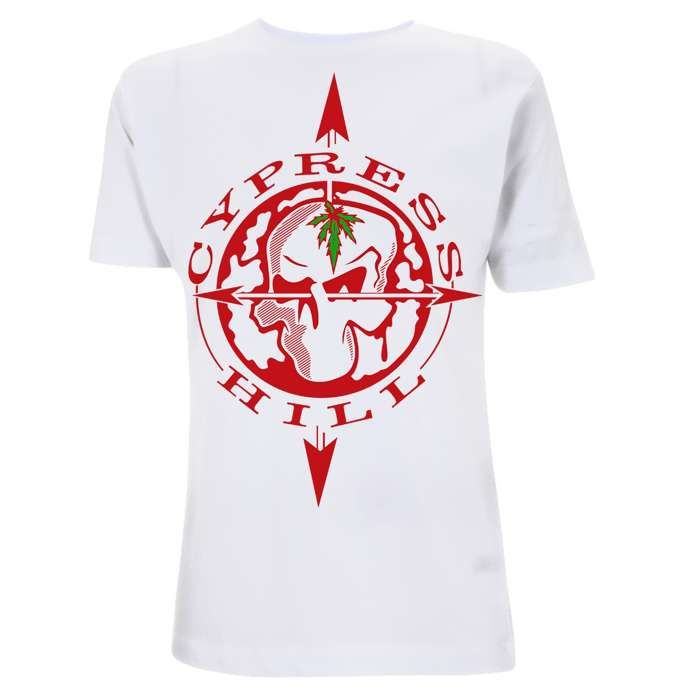 Skull Compass - White Tee - Cypress Hill