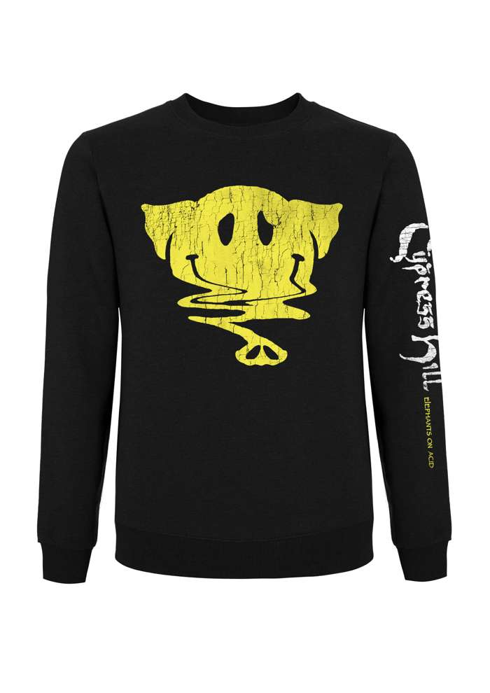 Smiley Elephant - Long Sleeve Black Tee - Cypress Hill