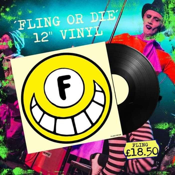 """FLING OR DIE 12"""" Vinyl (Signed) - Dance To The Radio"""