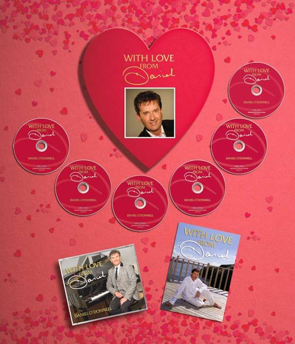 Love From Daniel - Special Limited Edition Heart Shaped Box with Signed Card - Daniel O'Donnell US